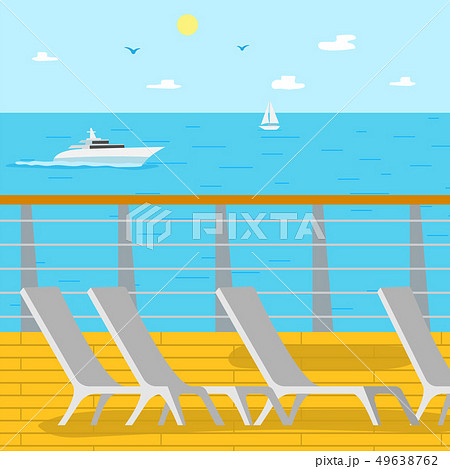 Seascape Ship and Aquatic View, Chaise Longues 49638762