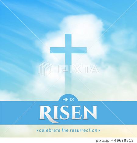 Christian religious design for Easter celebration. Vector 49639515