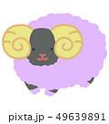 牡羊 動物 ひつじのイラスト 49639891