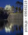 愛知県 名古屋城桜 夜景 49640219