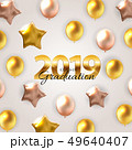 Class of 2019  Graduarion Education Background. Vector Illustration 49640407
