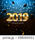 Class of 2019  Graduarion Education Background. Vector Illustration 49640431
