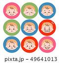 ベクター 赤ちゃん 顔のイラスト 49641013