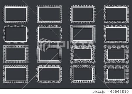 Elegant Lace Borders Frames laser cut 49642810