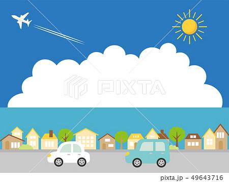 夏の街並み ドライブ 49643716