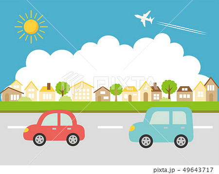 夏の街並み ドライブ 49643717