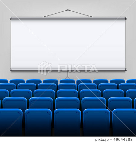 Creative illustration of empty meeting projector 49644288