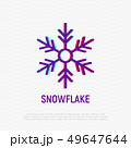 Snowflake thin line icon. Vector illustration 49647644