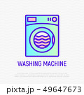 Washing machine thin line icon 49647673