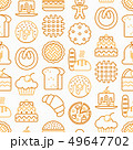 Bakery seamless pattern with thin line icons 49647702