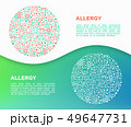 Allergy concept in circle with thin line icons 49647731