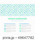 Security and protection concept with line icons 49647782