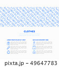 Clothing concept in circle with thin line icons 49647783