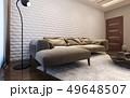 リビングルーム 現代 コンテンポラリーのイラスト 49648507