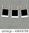 フレーム 洗濯ばさみ 写真のイラスト 49649798