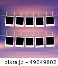 フレーム 洗濯ばさみ 写真のイラスト 49649802