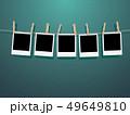 フレーム 洗濯ばさみ 写真のイラスト 49649810