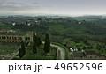 Aerial shot of Tuscany scenery. Italy 49652596