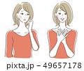 ベクター 悩み 女性のイラスト 49657178