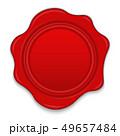 シール ワックス 赤のイラスト 49657484
