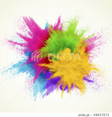 Colorful powder explosion effect 49657672