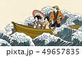 Boat ride trip in ukiyo-e style 49657835