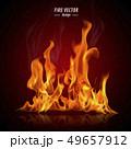 Burning fire in orange tone 49657912