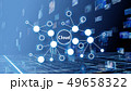 クラウド オンライン ハイテクのイラスト 49658322