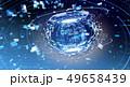 デジタル 球体 ネットワークのイラスト 49658439