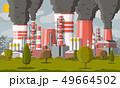 煙 スモーク 工場のイラスト 49664502