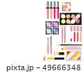 コスメ用品のイラスト背景 49666348