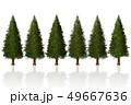 Pine Tree row isolated 3D Illustration  49667636