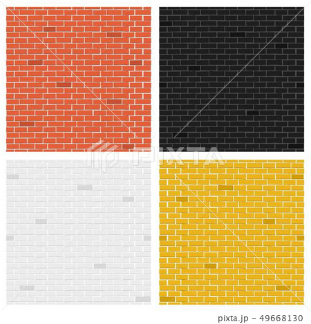 Creative illustration of color brick textures collection. Art design wall collection. Abstract 49668130