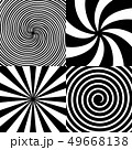 Creative illustration of hypnotic psychedelic spiral. Art design radial rays, twirl, twisted 49668138