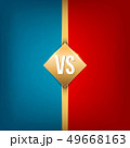 Creative illustration of versus background. VS logo art design for competition, fight, sport match 49668163