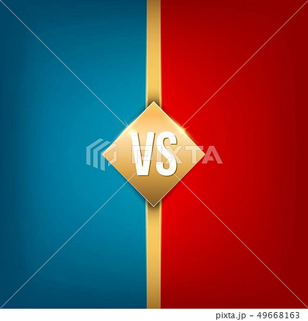 Creative illustration of versus background. VS logo art design for competition, fight, sport match 49668163