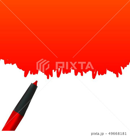 Creative illustration of highlighter pen with scribbles isolated on a white background. Stain 49668181
