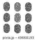 Creative illustration of fingerprint. Art design finger print. Security crime sign. Abstract concept 49668193