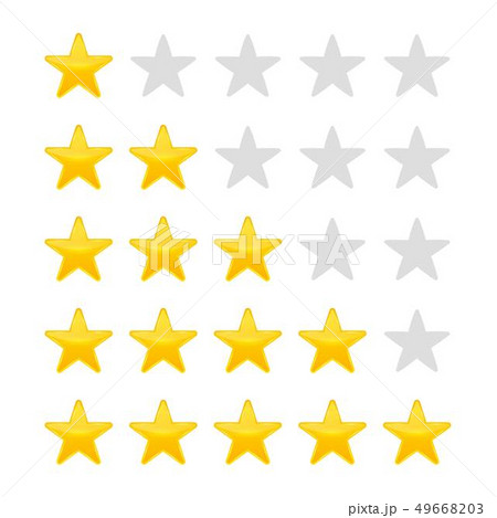 Creative illustration of star rating. Vote like ranking art design. Abstract concept graphic element 49668203