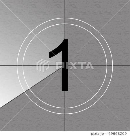 Creative illustration of countdown frame. Art design. Old film movie timer count. Vintage retro 49668209