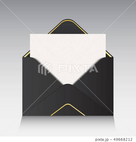 Creative illustration of open paper envelope isolated on background. For message, mail, email and 49668212