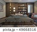 寝室 現代 コンテンポラリーのイラスト 49668316