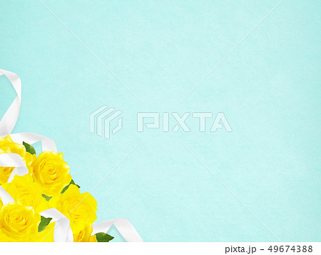 背景-バラ-黄色-父の日-ブルー 49674388