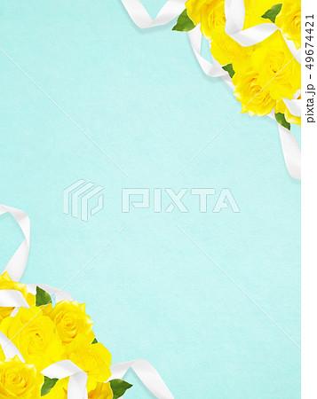 背景-バラ-黄色-父の日-ブルー 49674421