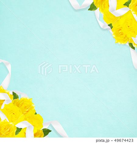 背景-バラ-黄色-父の日-ブルー 49674423