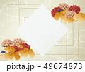 背景素材-ボード-和紙-梅-和柄-中華風-アジアン 49674873