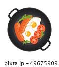 たまご 卵 玉子のイラスト 49675909