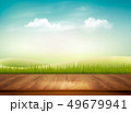 Nature background with wooden deck in front of 49679941