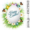 Holiday gift card with easter eggs and spring 49679949