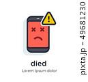 マンガ 漫画 携帯電話のイラスト 49681230